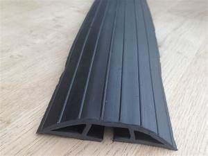 Extra Long 2m Black Rubber Floor Cable Wire Safety Cover