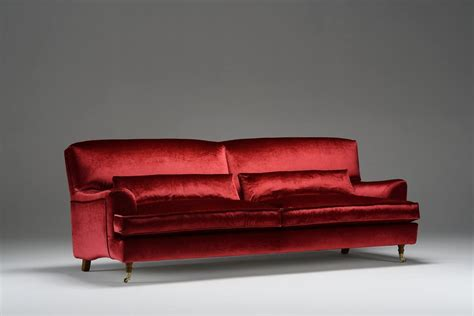 Divano In Velluto Rosso, Stile Classico