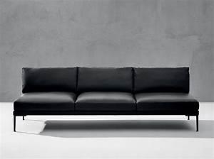 Canapé Droit Xxl : le retour du canap en cuir elle d coration ~ Teatrodelosmanantiales.com Idées de Décoration