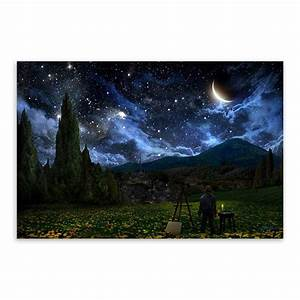 Rural Starry Night Landscape Artist Van Gogh A4 Large