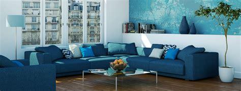 divano blu armonia freschezza  vitalita  salotto