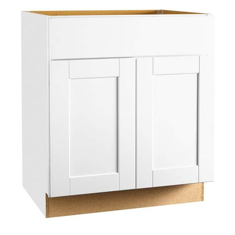 home depot sink cabinet hton bay 30x34 5x24 in shaker sink base cabinet in