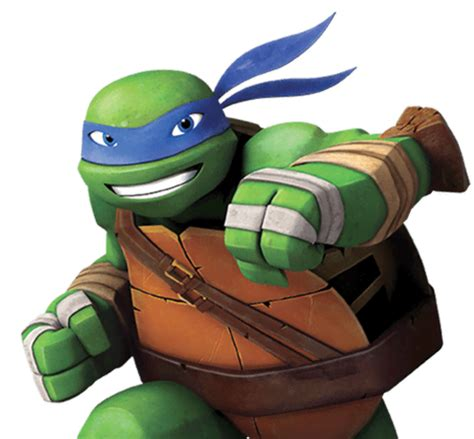 What is the name of the blue Ninja Turtle and what was the