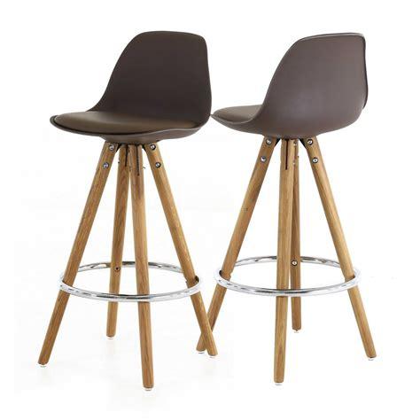 hauteur id饌le plan de travail cuisine chaise plan de travail taupe trépied en bois scandinave zago store