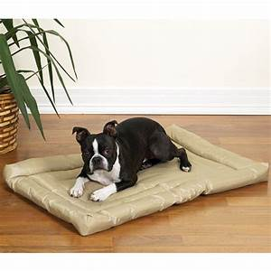 Slumber pet water resistant dog bed tan with same day for Weather proof dog bed