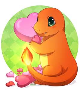 Pokemon Charmander and Pikachu Love