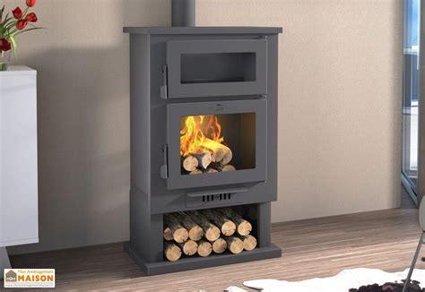 cuisine bois acier cheminée poêle à bois four bûcher 10 kw ch 3 fm calefaccion