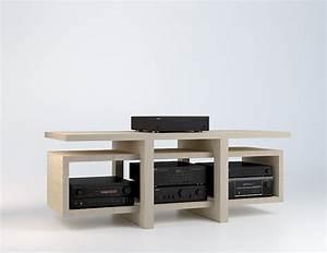 Meuble Hifi Bois : meuble hifi low multiplis de bouleau ~ Voncanada.com Idées de Décoration