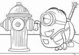 Coloring Fire Hydrant Stuart Pages Minions Babyhouse Info Cartoon Meets Quality sketch template