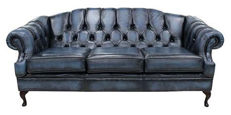 blue settee blue 3 seater chesterfield settee designersofas4u