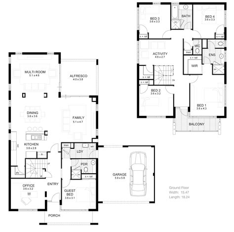 two story apartment floor plans modern 2 bedroom house plans modern house