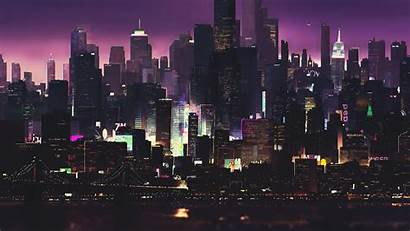 Cyberpunk 4k Night Cityscape Buildings Cyber Futuristic