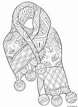 Coloriage Mandala Echarpe Impressão Padronizado Adultos Cachecol sketch template