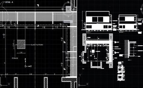 kitchen working drawing dwg, kitchen plan detail dwg