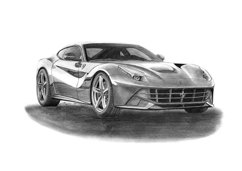 ferrari drawing ferrari f12 berlinetta drawing by gabor vida
