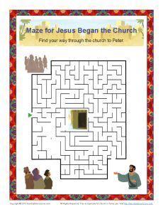 jesus began  church maze  day  pentecost bible