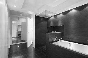 20 modern bathrooms with black shower tile With black white and grey bathroom ideas