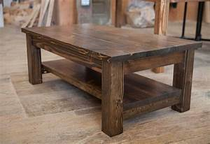 rustic coffee table buetheorg With solid wood farmhouse coffee table