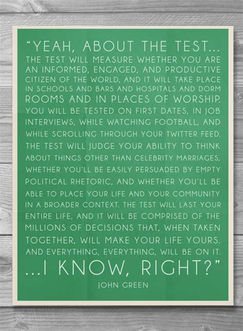 john green test typography quote poster by shaileyann on etsy 8 00 shailey ann design