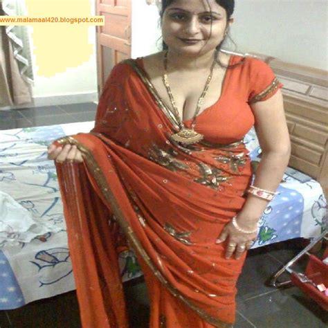 mallu aunty  orange hot blouse bra hot sexy pictures