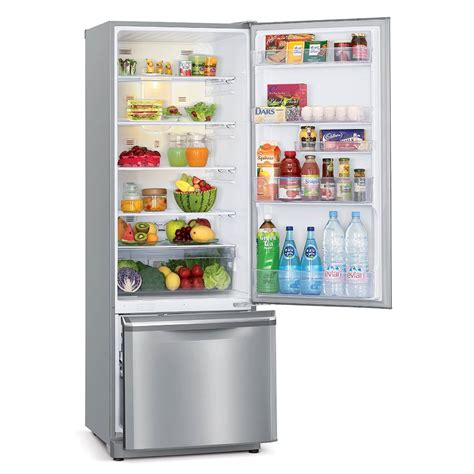wall mounted alarm fridge 390 l bottom mount mitsubishi electric australia