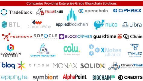 companies that use bitcoin 30 companies providing enterprise grade blockchain