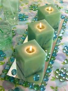 Square Centerpieces with Candles