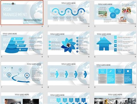 Free Template by Risk Management Powerpoint Template 84669 Sagefox Free