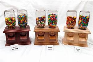 Hand-made DOUBLE Wooden Candy Dispenser M&M Peanut Skittles