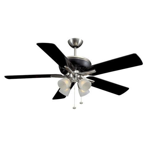 black ceiling fan with light shop harbor breeze tiempo 52 in brushed nickel black