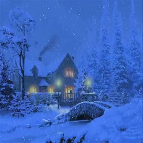 Snowy Cottage Animated Wallpaper - snow cottage live wallpaper appstore for android