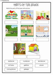 Parts Of The House Interactive And Downloadable Worksheet