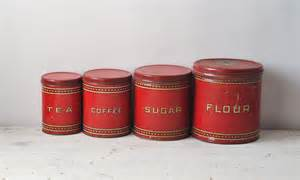 country canister sets for kitchen vintage canister set 1930 39 s metal set flour coffee