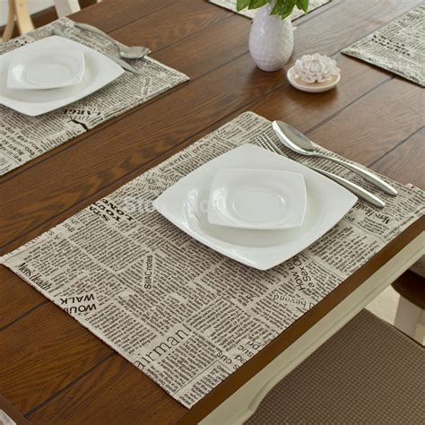 insulation mats table mats aliexpress buy fashion linen fabric placemat heat