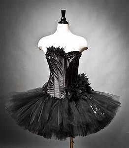 Size Medium Black Swan Ballet costume Burlesque tutu Ready to