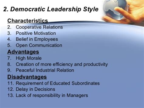 management styles autocratic  democratic  laissez