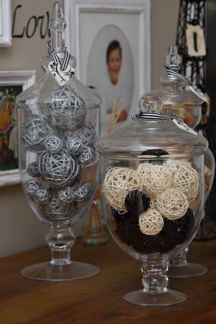 apothecary jars  decoration wo  crazy balls
