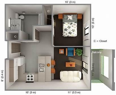 Bedroom Plans Floor Apartment Plan Housing Designs