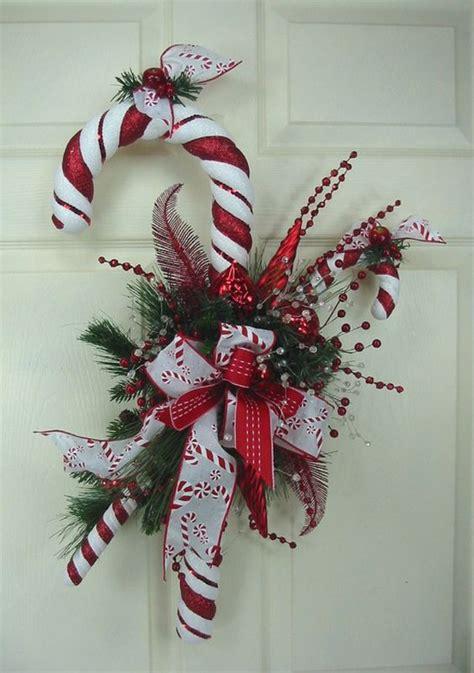 delicious candy cane christmas wreaths home design