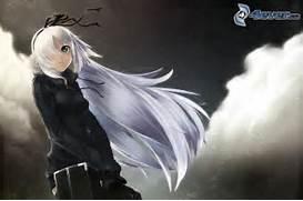 QUE EXCELENTE IDEA LUZMI  Espero se me permita participar  Abajo la      Anime Boys With White Hair And Green Eyes