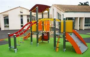 Aire De Jeux Extérieur Collectivité : structure de jeux pour enfant bois aluminium ou robiniers ~ Preciouscoupons.com Idées de Décoration
