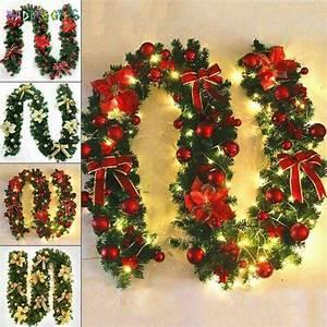 Badpiggies, 8, 9ft, Unlit, Christmas, Garland, Wreath, Festive, Holiday, Decorations, Ornaments, Artificial