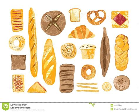 Bundle Of Breads And Homemade Baked Products Of Different