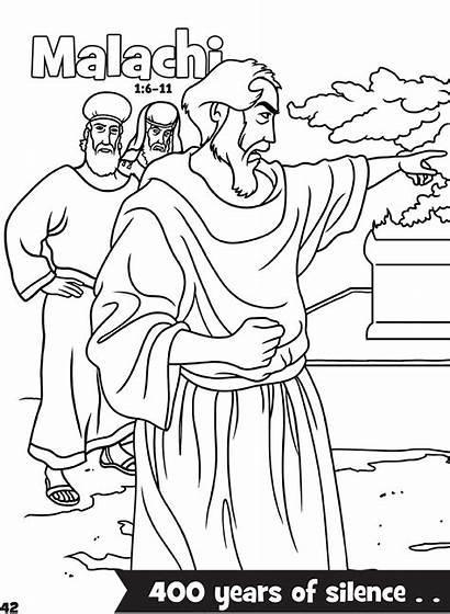 Malachi Coloring Bible Books Activities Activity Pdf