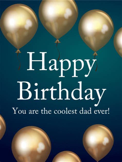 coolest dad  birthday card birthday