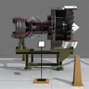 3d Aircraft Engine Model