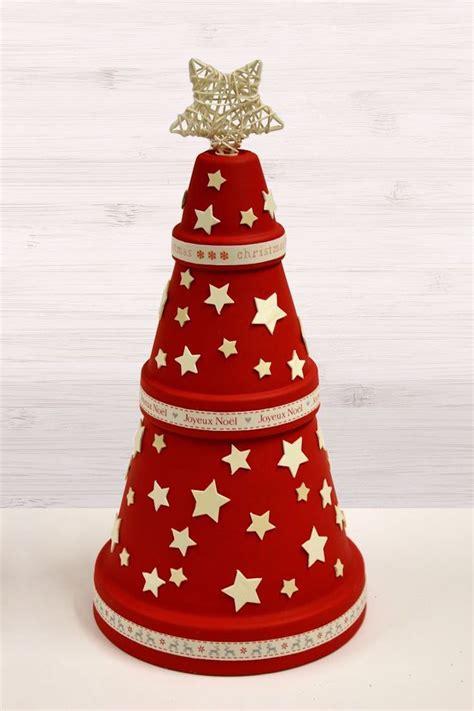 Dekoration Weihnachten Basteln by Basteln Blument 246 Pfen Weihnachten Tannenbaum Rot Sterne