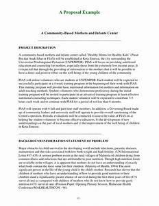 guide for writing funding proposal With community service proposal template