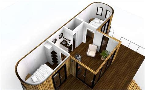 Minihaus Leben Im Wohnwagon by Cette Mini Maison Sur Roue De Style Wagon Offre Un Luxe