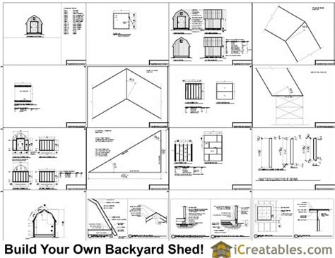 8x8 gambrel shed plans icreatables